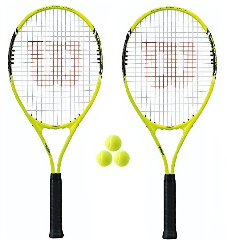 2 racchette Fusion XL racchette da Tennis da + 3 palline da Tennis