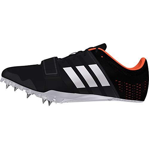 adidas Adizero Accelerator, Scarpe da Atletica Leggera Uomo, Nero Cblack/Zeromt/Orange, 43 1/3 EU