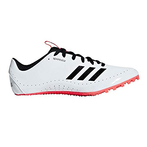 adidas Sprintstar, Scarpe da Atletica Leggera Uomo, Multicolore (Ftwr White/Core Black/Shock Red B37503), 45 1/3 EU