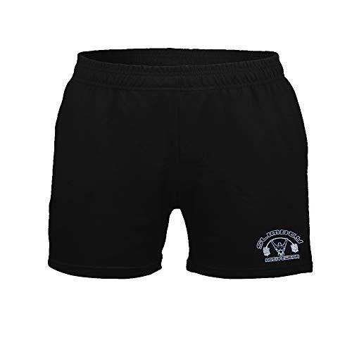 """Alivebody Mens Bodybuilding Shorts 5"""" Inseam con Pocket Nero M"""
