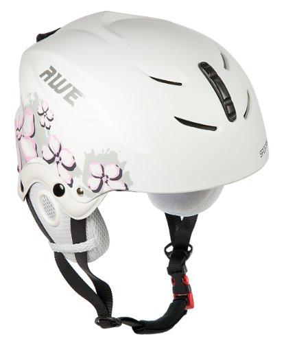 AWE® Per Bambini Ragazze Sci Casco Bianco/Rosa, Taglia 52-56cm