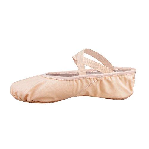 Bezioner-Shop Nero e Rosa Chiaro Balletto Scarpe di Tela Split Pantofole Sole di Danza (VI Consigliamo di Scegliere Una Taglia più Grande la Dimensione Normale di Scarpe) (37, Rosa)