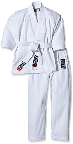 Blitz Sport Karate Kimono, Bambino, Bianco, 110 cm