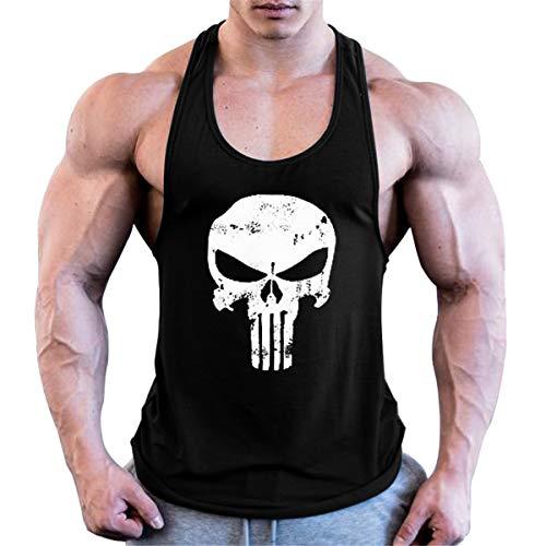 Cabeen Uomo Canotta Bodybuilding Canottiera Gym Stringer Veste