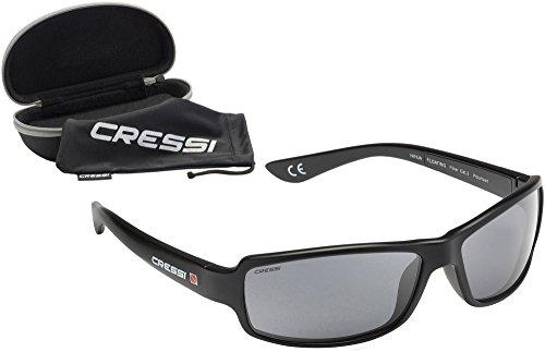 Cressi Ninja Floating, Occhiali Galleggianti Sportivi da Sole Polarizzati con Protezione UV 100% Uomo, Nero, Taglia Unica