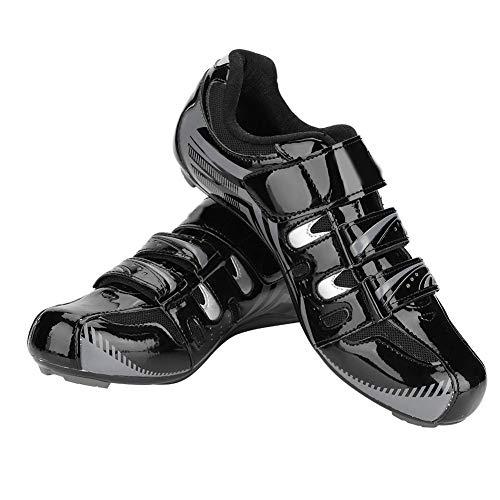 Dioche Scarpe da Bici Uomo, Scarpe da Bici Corsa Antiscivolo SPD Sistema Lock Riding Scarpe da Ciclismo Adulto (1 Paio)(42-Nero)