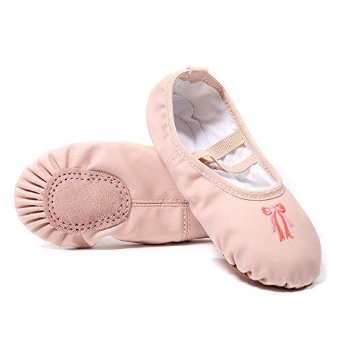 DoGeek Scarpe da Ballerina Scarpe da Ballo Mocassini Danza Classica per Scarpe da Danza£¬25,Albicocca Rosa