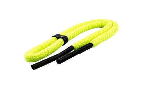 Edison & King Laccio per occhiali utilizzabile per il nuoto in colori forti/fluorescenti, a scelta nella confezione da 1 o da 2 lacci (giallo neon, 1 lacci)
