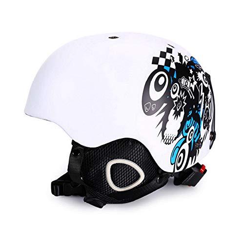 EDW Casco da Sci da Sci Snowboard Caschi per Sport su Ghiaccio all'aperto Certificazione CE/ASTM Leggera Taglia Regolabile Attrezzatura Invernale White Carnival Night,L(58~61cm)