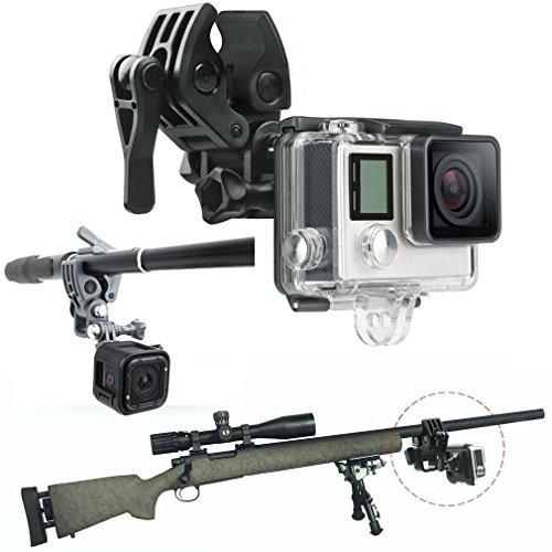 First2savvv GO-DYTZ-01 Canna da pesca Bow Arrow Gun Sportivo supporto per GoPro HERO4 Session, HERO+ LCD, HERO4 Silver Black, HERO, HERO2, HERO3, HERO3+, HERO4, SJCAM SJ4000, SJCAM SJ5000
