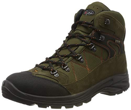 Grisport Scarponi Trekking Scarpe da Caccia da Uomo in Goretex Tecnica Impermeabile Scarponcino (41) - verde/arancio