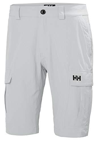 Helly Hansen HH Qd Cargo Shorts 11, Pantaloni Sportivi Uomo, Grigio (Gris Claro 853), Taglia Unica (Taglia Produttore: 30)