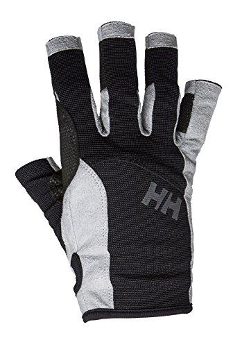 Helly Hansen Sailing Glove Short, Guanti da Vela, Design Sportivo a Mezze Dita, Ottimi per Nautica, Resistenti, per Ogni Stagione Unisex Adulto, Nero, S