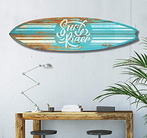 HXA DECO - Tavola da Surf per Decorazione da Parete, Stampa su Alluminio Dibond, Surf California, 145 x 40 cm, Surf Blue California, 145x40 Cm, 145x40
