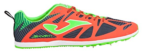 Joma 6728 Spikes, Scarpe da Atletica Leggera Unisex - Adulto, Arancione (Coral-Black), 42 EU