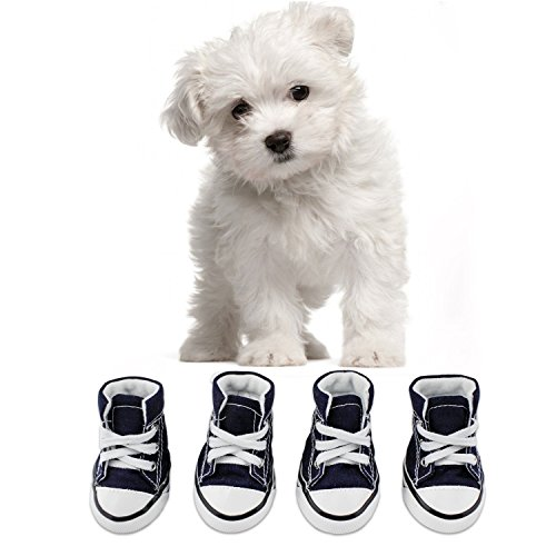 KEESIN Scarpe per cani Scarpe antinfortunistiche per cani antiscivolo Scarpe sportive morbide per piccole e medie(# 2, Bleu)