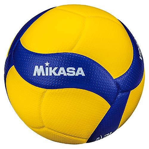 MIKASA Pallone Volley Gara V200W, Unisex Adulto, Blu/Giallo, 5