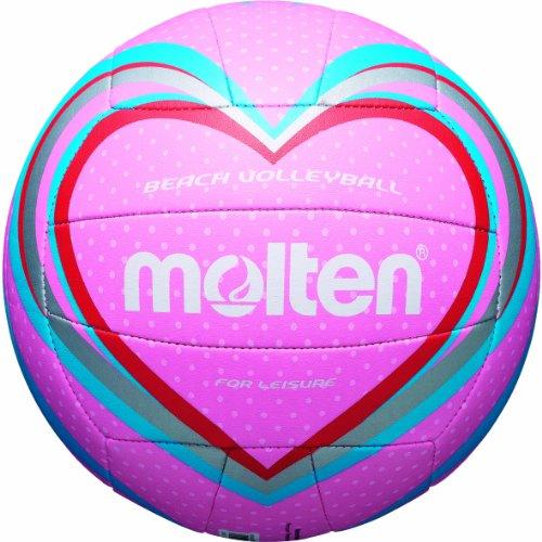 Molten, Palla da Beach Volley, Multicolore (Pink/Blau/Rot), Misura 5