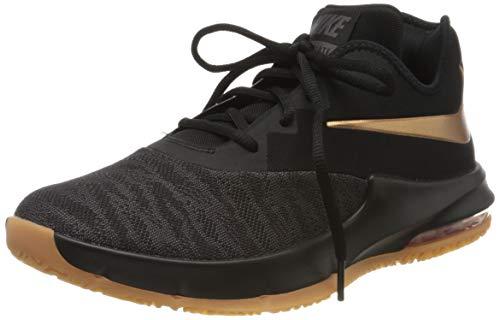 Nike Air Max Infuriate III Low, Scarpe da Basket Uomo, Nero (Black/Mtlc Copper/Thunder Grey/Gum Med Brown 009), 43 EU