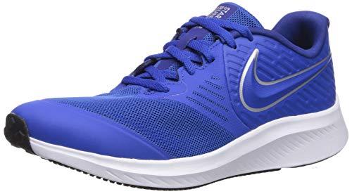 Nike Star Runner 2 (Gs) Scarpe da Atletica Leggera Unisex Adulto, Multicolore (Game Royal/Metallic Silver 400), 40 EU