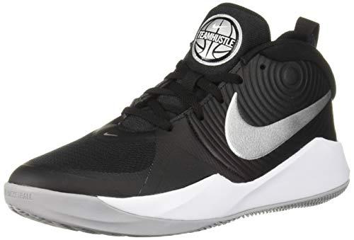Nike Team Hustle D 9 (GS), Scarpe da Basket Unisex-Bambini, Multicolore (Black/Metallic Silver/Wolf Grey/White 000), 38 EU