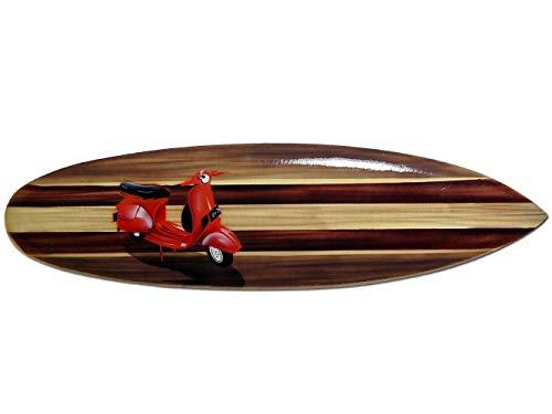 Seestern Sportswear FBA_1755 - Tavola da Surf Decorativa in Legno, Lunghezza 80 cm