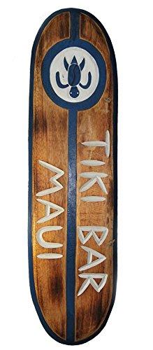 Tavola da surf da 100 cm, perfetta come decorazione da appendere per ricreare lo stile dei Tiki Bar