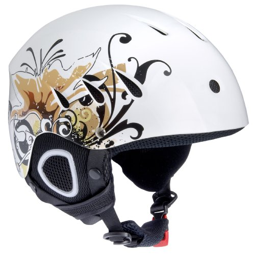 Ultrasport Race Edition Casco Scii per Donna, Bianco, XL