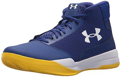 Under Armour Men's Jet Mid Basketball Shoes, Scarpe da Basket Uomo, Blu (Formation Blue), 45 EU