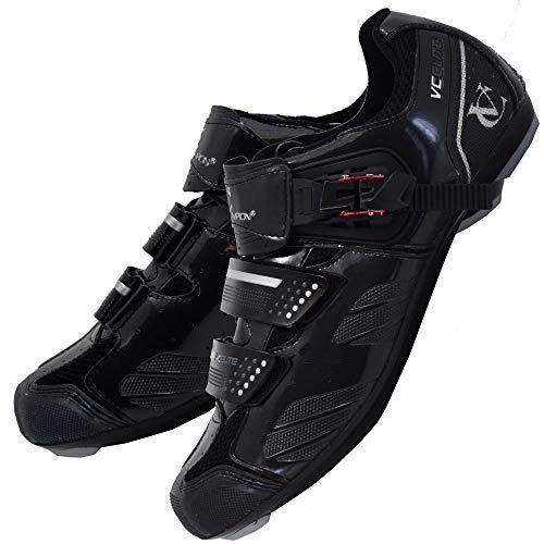 VeloChampion Scarpe per Ciclismo da Strada Elite (Paio) Black/Silver 43