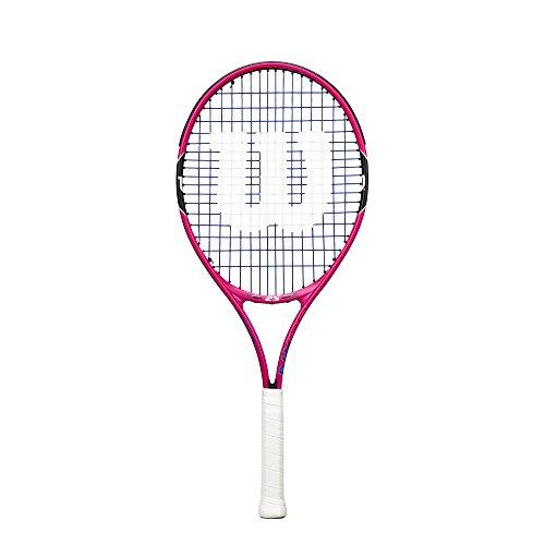 WILSON Burn 25, WRT218200 Racchetta da Tennis Altezza Compresa fra 130 e 145 cm Unisex Bambini, Rosa/Nero