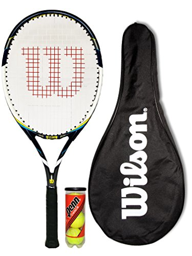 Wilson Envy 100L Blue Racchetta Da Tennis + Cover + 3 Tennis Balls
