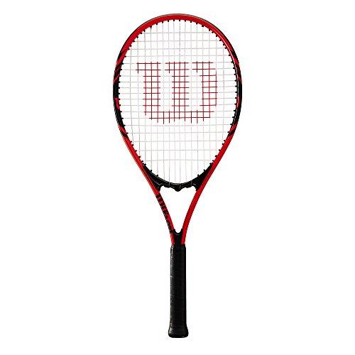 WILSON Federer, WRT30480U3 Racchetta da Tennis per Giocatori Principianti e Amatoriali Unisex Adulto, Rosso/Nero, L3