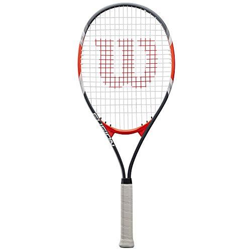 Wilson Fusion XL, WRT30270U3 Racchetta da Tennis per Giocatori Principianti e Amatoriali Unisex Adulto, Rosso/Grigio, L3