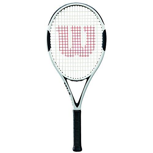 WILSON H6, WRT57330U3 Racchetta da Tennis per Giocatori Amatoriali Ambiziosi Unisex Adulto, Bianco/Nero, L3