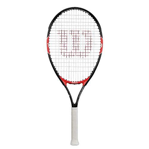 WILSON Roger Federer 23, WRT200700 Racchetta da Tennis Giovani di Altezza Compresa fra 115 e 130 cm Unisex Bambini, Nero/Rosso