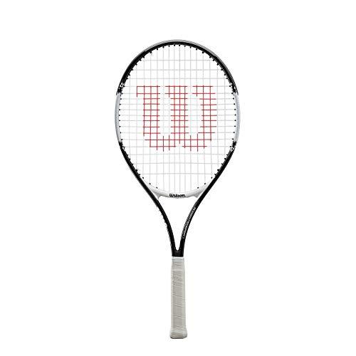 WILSON Roger Federer 25, WRT200800 Racchetta da Tennis Giovani di Altezza Compresa fra 130 e 145 cm Unisex Bambini, Nero/Rosso