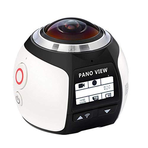 YWT 4K WiFi 360 Sports Action Camera, Mini Full HD 1080P Cam 220 Videocamera per Esterni con Video panoramico grandangolare, 30M Diving PRO DVR DV Impermeabile