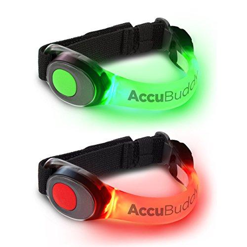 AccuBuddy Braccialetto a LED – 2 Braccialetti Luminosi per la Corsa e Come Luce di Sicurezza per Tutti i Tipi di Sport all'aperto