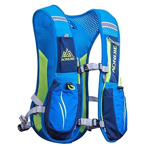 AONIJIE Running Zaini leggeri funzionali Hydration Pack Vest 5,5 litri (Blue)