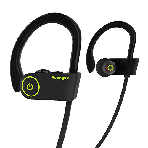 Auricolari Bluetooth HolyHigh Auricolari senza fili Cuffie Bluetooth 4.1 Sportive IPX7 Impermeabile CVC 6.0 con Microfono 240 ore Scatola Ricarica per iPhone Android Nero
