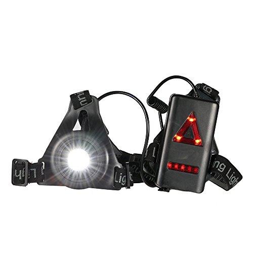 Docooler Running Light Outdoor Torace a LED Ricaricabile Night Running Light Torcia con Bardella Rimovibile per L'escursione in Campeggio