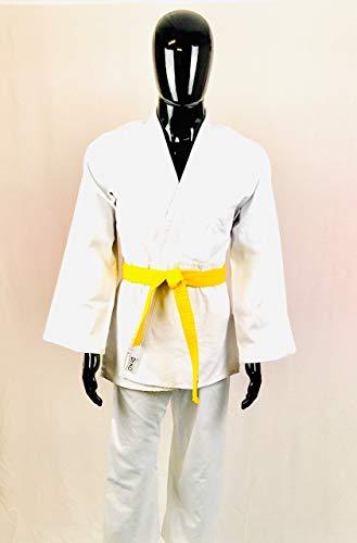 Dr. KO Judogi: Uniforme di Judo. Kimono per Ragazzi/Adulti e Principianti (Bianco, 110)
