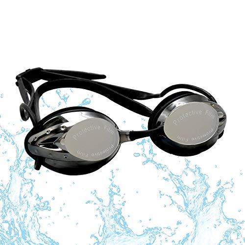 FTALGS Occhialini da Nuoto,Colore Multiplo Occhialini da Nuoto Anti-Appannamento Occhiali da Nuoto Agonistico Protezione UV Impermeabile, per Donne, Uomini, Adulti, Adolescenti e Bambino (Nero)
