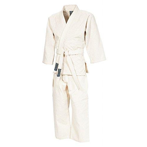 GIMER 11/002, Judo-gi con Cintura Uomo, Bianco, 190 cm