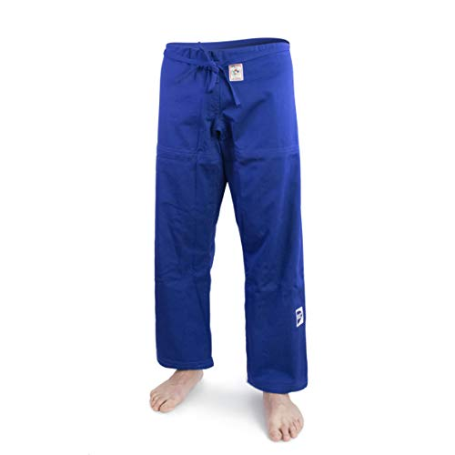 GREEN HILL Pantaloni Judo GI IJF Approved Trousers Greenhill Nuova Vestibilita' (Blu, 160)