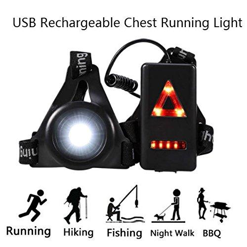 Illuminazione Corsa illuminazione Sport winnes lampada Running LED ricaricabile per Marche, Run Light a LED, luce a petto