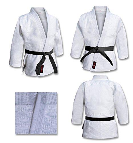 Judo Tuta Bianca sbiancata Judo Uniforme, Bambini Judo Suit, Adulto Judo Kimono. Tuta da Allenamento Judo Bianca (2/150 cm)