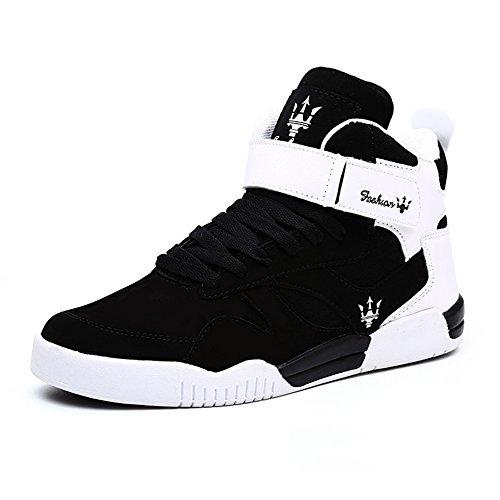 MUOU Uomo Sneaker Scarpe da Corsa Scarpe da Ginnastica Uomo Sportive Fitness Running Casual Nero (Nero,39 EU)