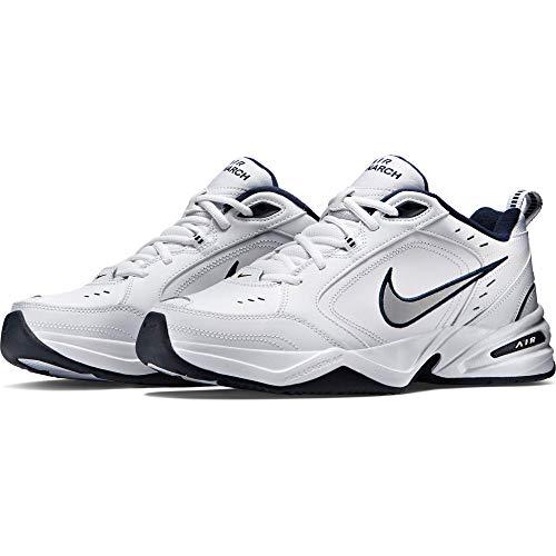 Nike Air Monarch IV, Scarpe da Fitness Uomo, Bianco (White/Metallic Silver 102), 46 EU